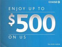 Chase $225 bonus card for new savings account deposit 15k fast shipping