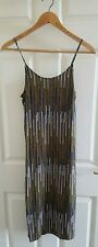 H&M Printed Midi Cami Dress Size 8 UK/ EUR 34