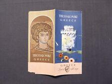 Reiseprospekt Hellas, Thessaloniki, Greece, Athen 1956, english