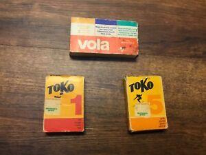 Ski Wax Vintage Toko and Vola