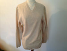NWT BLACK BROWN 1826 Lambswool Beige Knit Womens Long Sleeve Sweater Size S P