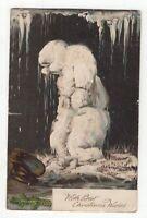 NSW 1d shield stamp on circa 1905 Christmas postcard