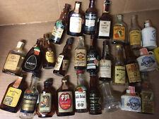 Vintage Whiskey Bourbon Mini Bottles Miniature Airline Empty