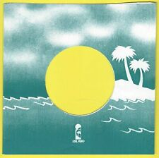 ISLAND (turquoise palm trees) REPRODUCTION RECORD COMPANY SLEEVES - (pack of 10)