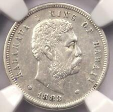 1883 Hawaii Dime (Ten Cents, 10C)- NGC AU Details - Rare Certified Silver Coin