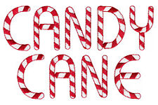 Candy Cane - 36 Machine Embroidery Font Designs