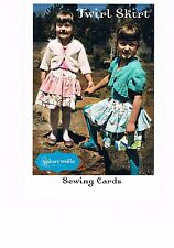 TWIRL SKIRT - Valori Wells - SEWING CARD - Pattern- Girls Sizes 4 to 6 years
