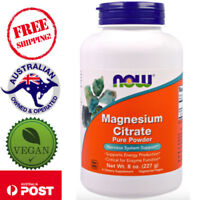 Now Foods Magnesium Citrate Pure Vegan Powder 8oz (227g) for Enzyme Function