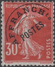 "FRANCE STAMP TIMBRE PREOBLITERE N° 58 "" SEMEUSE 30c ROUGE "" NEUF xx TTB  K116"