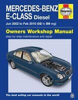 Mercedes E-Class W211 E220 E270 E280 & E320 CDI 2002 - 2009 Haynes Manual 5710