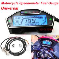 LCD Motorcycle Speedometer Odometer Tachometer RPM Speed Fuel Gauge Kph Mph New