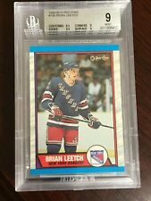1989 -90 O-Pee-Chee #136 Brian Leetch RC Rookie BGS 9 MT!!