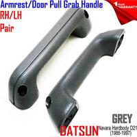 For NISSAN Navara Hardbody D21 Pickup 1986-1997 Door Pull Handle Grey Pair LH RH