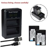 LP-E6 Battery or Dual USB Charger for Canon EOS 5DS, 5DS R, 5D Mark II, 6D, 7DSV