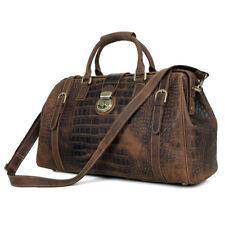 Leather duffle bags-Travel bag-Weekender bags-Crocodile effect