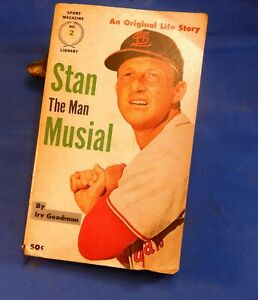 "STAN MUSIAL ""Stan The Man"" 1961 paperback book by Irv Goodman Sport Magazine"