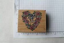 Rubber Stampede Romantic Wreath #A809E Rubber Stamp