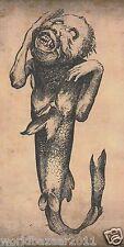 Victoriano curiosidad el feejee Sirena Circo Sideshow Freak Show effects