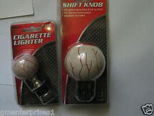 Eyeball Shifter Knob AND  Cigarette Iighter (2 Items)