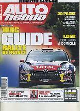 AUTO HEBDO n°1823 du 21 Septembre  2011 GUIDE RALLYE DE FRANCE