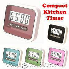 Compact Lab & Kitchen Timer With Alarm, Large Digital LCD Display.