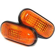 OEM Honda 00-09 S2000 AP1 AP2 Amber Side Markers Lenses Lights Pair Genuine