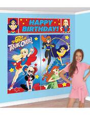 6ft Superhero Batgirl & Co Birthday Party Giant Scene Setter Banner Decoration