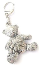 Teddy Bear Handcrafted From Solid Pewter In The UK Key Ring