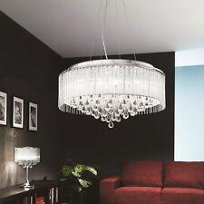 24'' Modern Drum Crystal shade Chandelier Ceiling Pendant Dining Lighting Lamp