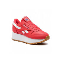 Reebok Classics Womens Leather Double shoes with modern flatform twist