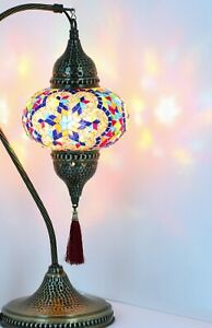 BEST PRICE  22 COLOR VARIATIONS Turkish mosaic bedside table lamp.