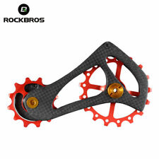 RockBros Carbon Fiber Bike Rear Derailleur Cage Pulley Kit 17T For Sram Kits New