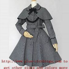 Chic Punk Gothic  Lolita retro dress  cape slim tweeds  coat PLUS  0X  1X G704