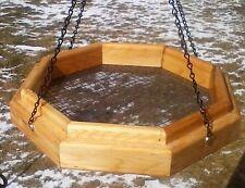 Handmade hanging octagon platform cedar wood bird/squirrel feeder, Tbnup #1L