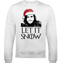 Let It Snow Navidad Hombre Divertido Juego de Tronos Jersey Sudadera 2xl CON