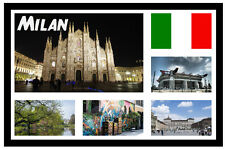 MILAN, ITALY - SOUVENIR NOVELTY FRIDGE MAGNET - SIGHTS / TOWNS - GIFT - NEW