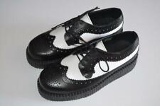 UNDERGROUND BLACK & WHITE BROGUES WULFRUN CREEPERS PLATFORMS UK 5