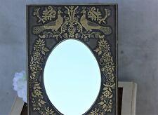 Vintage rare table mirror metal engraving frame Boudoir mirror