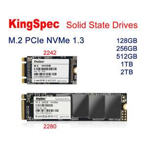 KingSpec 128GB 256GB 512GB 1TB 2TB SSD M.2 NVMe PCIe 3.0 2242 2280 solid Drive