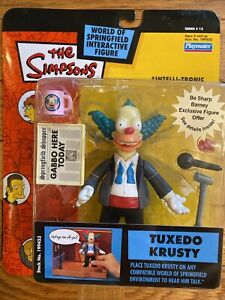 The Simpsons Tuxedo Krusty the Clown Action Figure WOS Series 13 2003 Playmates