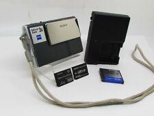 SONY CYBERSHOT DSC-T7 5.1MP DIGITAL CAMERA WITH 3X OPTICAL ZOOM W/2 MEMORY CARDS
