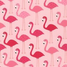 Pink Flamingos by Kelle  By the yard cotton print