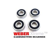 4 RUBBER SEALED WEBER CARBURETTOR SPINDLE BEARINGS DCOE/DCNF/IDF DELLORTO CARB