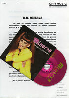 "KU MINERVA ""NO QUIERO PROMESAS"" PROMO CDSINGLE+PRESS DOSSIER/ STEPHANELLI-POSADA"