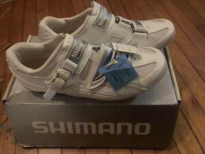 New-in-Box SHIMANO SH-WR41 Women's Road Bike Shoes 43EU, 10.4US, 27.2cm - White