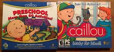 Caillou Set of 2 New Sealed Cd-Rom Pc Games Ready for School PreSchool