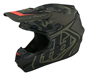 Troy Lee Designs GP Helmet - Overlord Army Green - (Non-MIPS)