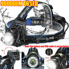 90000LM CREE T6 LED Headlamp Headlight Torch Flashlight Work Light Waterproof