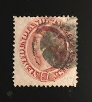Stamps Newfoundland SC28 12c pale red brown QV cork cancel. See description.