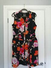 Phase Eight Floral Cotton Shirt Dress with pockets Size 18